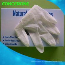 Одноразовые латексные смотровые перчатки с высоким качеством