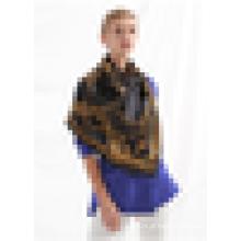O melhor lenço do inverno para mulheres desgaste do pescoço lenço de seda pura da forma do cetim