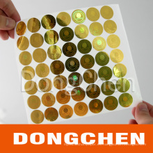 Etiqueta engomada anti-falsa imprimible impermeable del holograma de la prenda impermeable