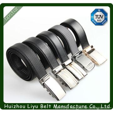 Cintos de couro genuíno preto de alta qualidade para homens
