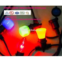SLO-116 Outdoor String Lights Heavy Duty Cord Sockets 21 ampoules à incandescence (3 pièces de rechange) Edison Vintage Weatherproof