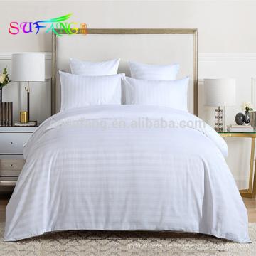 Luxus King Size 100% Baumwolle 1cm Streifen Bettwäsche