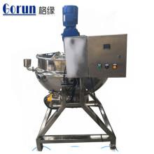 Bouilloire de cuisson à jaquette électrique à vapeur réglable de 200 litres avec agitateur