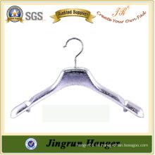 El más eficaz OEM / ODM moda plástico de plata percha de abrigo