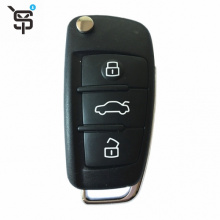 High quality black key car remote for Audi A3 RS 3 button folding car remote key with 433 MHZ YS100080