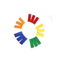 Confettis de papier rectangle coloré