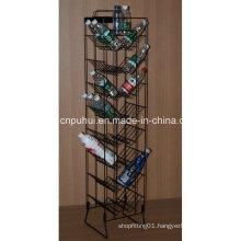 Metal Floor Bottles Display Rack (PHY1058F)