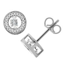 Joyería de plata de los pendientes del perno prisionero del diamante 925 del baile