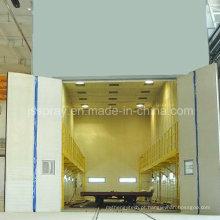 China Linha de pintura de superfície da placa de aço com máquina de jateamento
