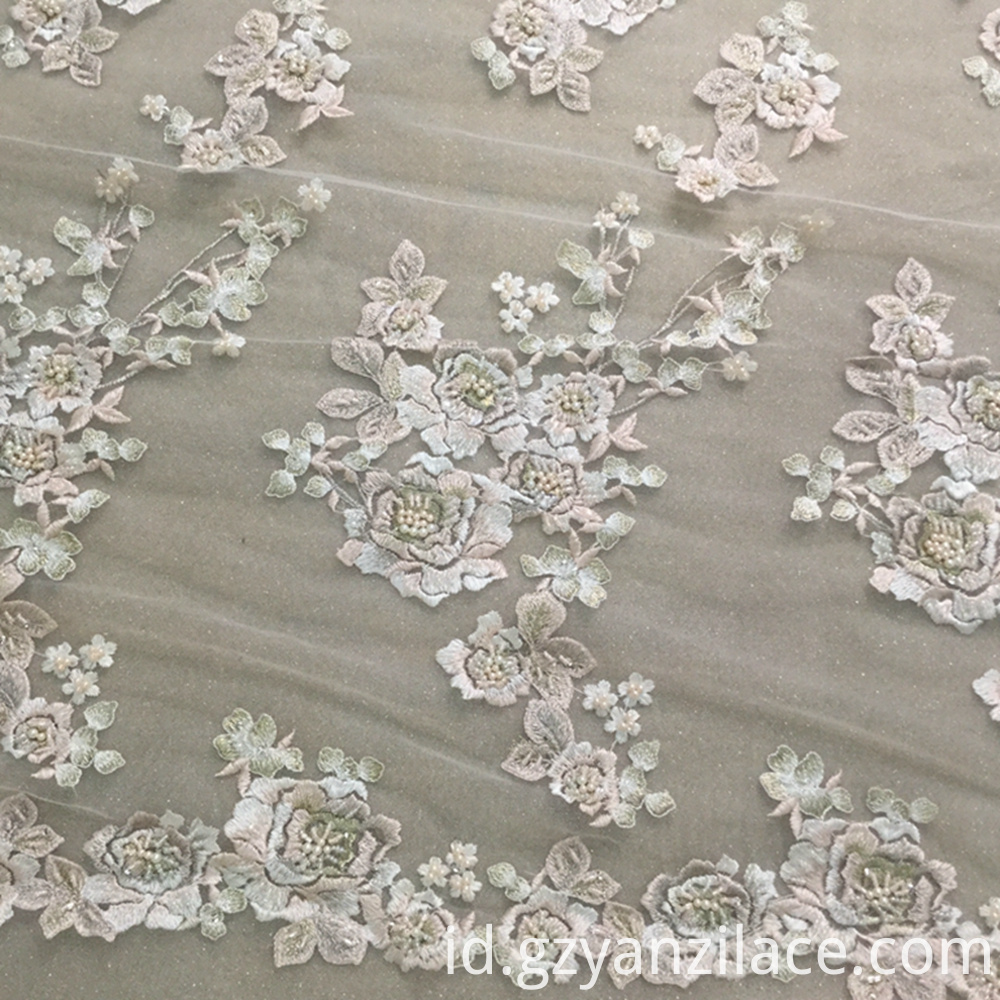 Bridal Lace with Beads Fabric