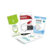 Custom White Matte Mylar Foil Filtered Air Face Mask Plastic Zip lock Packaging Bags