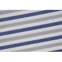 Grau/Navy Streifen Streifen bequem Garn gefärbt Shirt-Stoff