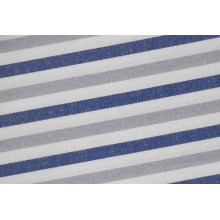 Rayures gris/Navy-ensemencer confortables tissés teinté chemise tissu