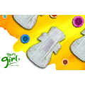 Night use ginseng herbal scented sanitary napkins