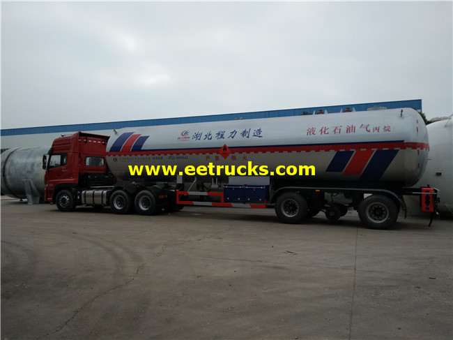 60 M3 Tri-axle Used LPG Trailers