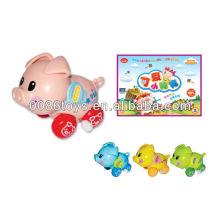Bonito, porca, criança, brinquedo, vento, cima, brinquedo