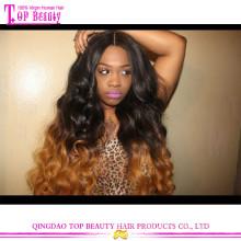 Красоты два тона объемная волна парик фронта шнурка клубок бесплатно бразильские волосы два тона человеческих волос парики для чернокожих женщин