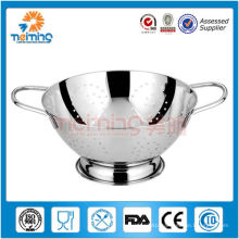 fashional andpractical round empty stainless steel fruit basket
