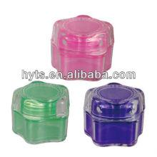 tarros de plástico transparente con tapas