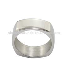 Vente en gros de bagues en acier inoxydable pour bijoux en acier inoxydable avec logo gravé