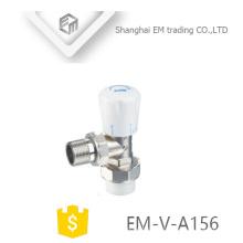 EM-V-A156 Radiateur en laiton soupape de commande manuelle soupape de régulation de température en laiton vertical