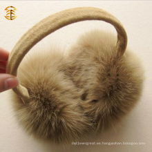 El abrigo caliente del oído de la piel del muff del invierno de la piel del Fox del 100% caliente calienta