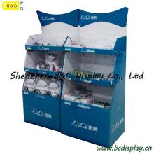 Pantalla de papel de salida, soporte de exhibición de piso de la cartulina del zócalo (B & C-A084)