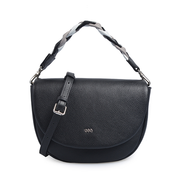 lady plain genuine leather crossbody shoulder bag saddle bag