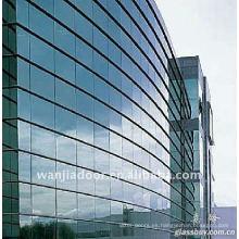 Nuevo diseño de muro cortina de vidrio estructural.