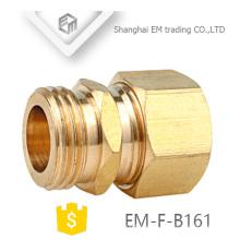EM-F-B161 unión de tubo de latón de unión NPT con tuerca hexagonal