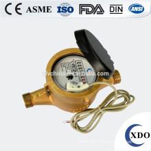 Rotary piston volumetric water meter with Class D