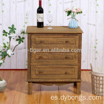 Living Room Rustic Table big 2 Drawers Nightstand