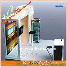 design wall showcase with dividers for exhibition booth art