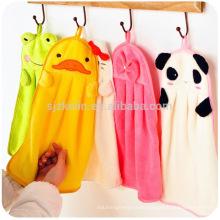animal design quick dry coral fleece Kitchen Hanging towel