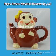 2016 современный стиль керамический чайник в форме обезьяны