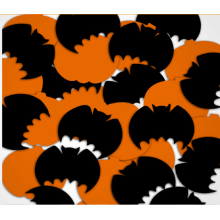 Citrouille d'Halloween et Bat Mylar Confetti pour la célébration