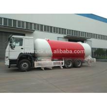 Camión del tanque de gas del LPG de Howo 4 * 2, camión del lpg de la fuente de la fábrica de China para la venta