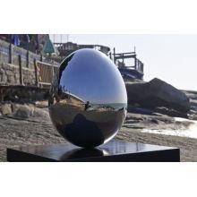 outdoor garden mirror stainless steel sculpture