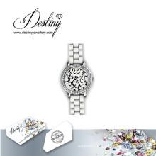 Destino joias cristal de Swarovski Chic relógio