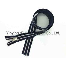 Cremallera reflectante de nylon con refuerzo abierto de Yyc (# 5)