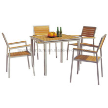 Modern Design Outdoor Patio Dining Furniture Wooden Garden Furniture (D540; S240)