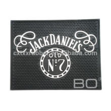 Tapis de bière pvc carré, tapis de bar pvc carrés, Jack Daniels