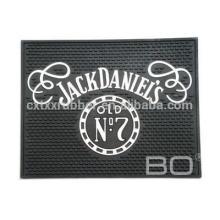 square pvc beer mats, fancy square pvc bar mats, jack daniels beer bar mats