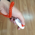 Pet Dog Puppy Training Clicker con correa para la muñeca