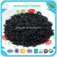 Coluna de carbono ativado de 3,0 mm para purificação do ar