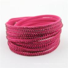 Vente en gros Mode Cristal Bracelet personnalisé Bracelets en cuir