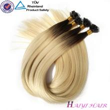 Extensión dibujada doble al por mayor del pelo de la extremidad de Keratin del pelo de la Virgen de la alta calidad alineada al por mayor