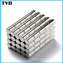 Ni-Cu-Ni Revêtement N50 Strong Cylinder NdFeB Magnet Permanent avec conformité