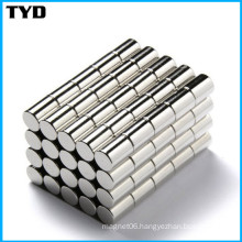 Ni-Cu-Ni Coating N50 Strong Cylinder NdFeB Magnet Permanent with Compliance