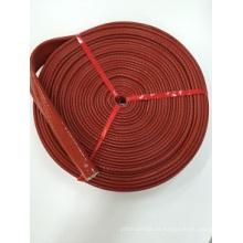Manga de fibra de vidrio de silicona / manga ignífuga